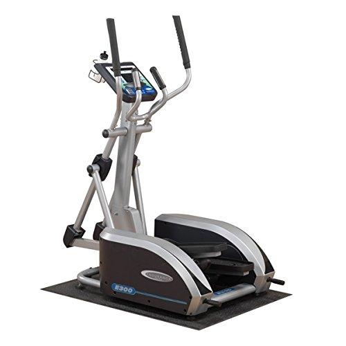 Body Solid E400 Endurance Elliptical Trainer with 5 Readout LED Display and Contact Heart Rate Monitor Adjustable