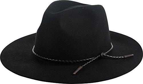 Brixton Unisex Tucson Fedora Black Hat MD (7 1/4)