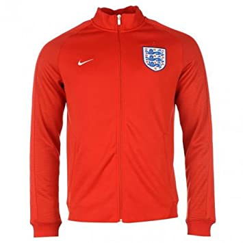 Nike England Authentic N98 Track Chaqueta Oficial 2015/2016, Hombre, Challenge Rojo/