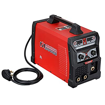 Amico MTS-205 Amp MIG/TIG/Stick Arc DC Welder, Weld Aluminum(MIG) 120/240V Dual Voltage Welding New
