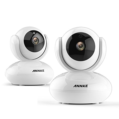 Network Wireless IP Camera, ANNKE 2x Indoor Security Cam 1080P WiFi Video Surveillance Monitor, Auto Pan/Tilt Night Vision Motion Alarm Home Camera