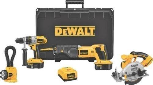 New-Dewalt-Dck450x-18-Volt-Xrp-Cordless-4-Piece-Tool-Drill-Saw-Combo-Full-Kit