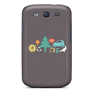 Awesome Design Smart Car Vectors Hard Case Cover For Galaxy S3