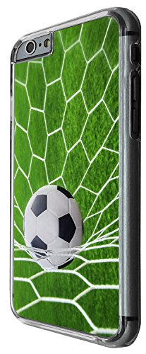 1547 - Cool Fun Trendy football soccer goal sports ball score Design iphone 6 Plus / iphone 6 Plus S 5.5'' Coque Fashion Trend Case Coque Protection Cover plastique et métal - Clear