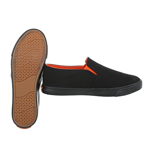 1 para Black Low Design Zapatillas planas R53 mujer deporte Ital de qRRwPSCT