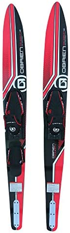 O'Brien Celebrity Combo Water Skis, Red,