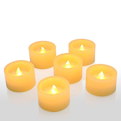 Ranipobo Flameless LED Candles Realistic Dancing Flame Battery Operated Tea Lights with Remote Control for Festival Celebration Home Decor - Pack of 6