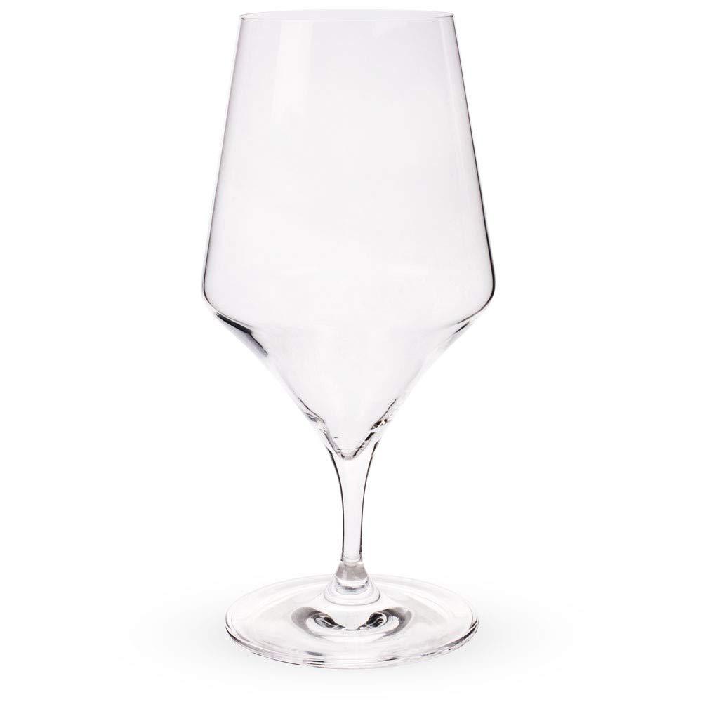 Urban Bar Bacci Stemmed Crystal Water Glasses - 14.5 oz - Set of 6 by Urban Bar