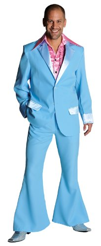 Adult Mens 70s Suit Baby Blue Medium Fancy Dress: Amazon.co.uk ...