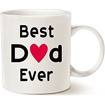 Christmas Gifts Best Dad Coffee Mug - Best Dad Ever - Unique Christmas or Birthday Gifts Idea for Dad Father Papa Daddy Porcelain Cup White, 14 Oz by LaTazas