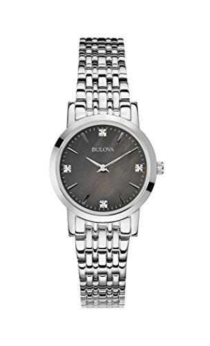 Bulova 96P148 Ladies Diamond Gallery Silver Steel Bracelet Watch