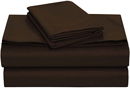 Pieridae Brushed Embossed Microfiber Sheet Set – Hypoallergenic - Fade and Wrinkle Resistant - 4 Pc - Brown, king (Pink Sage 4 Piece Crib)