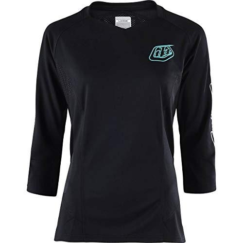 Troy Lee Designs Ruckus 3/4-Sleeve Jersey - Women's Solid Black, S (Best Design Of Clothes)