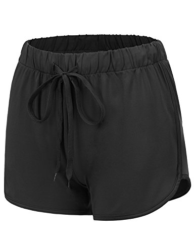 REGNA X NO BOTHER women's cotton stretch athletic fitness lounge dolphin short,17401_black,3X Big