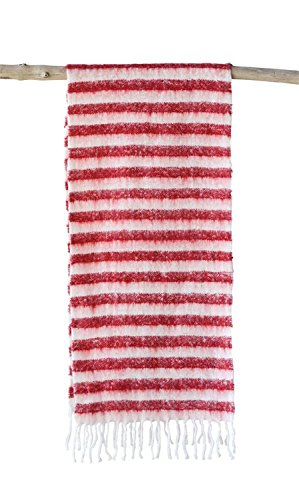 Heart of America Acrylic Mohair Table Runner Red Stripe - 2 Pieces by Heart of America (Image #3)