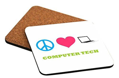 Peace Love Computer Tech Coasters