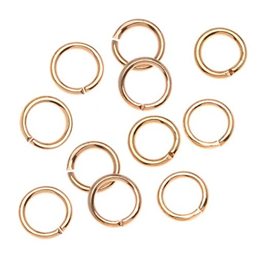 Beadaholique 22K Gold Plated Open Jump Rings 5mm 20 Gauge (100)
