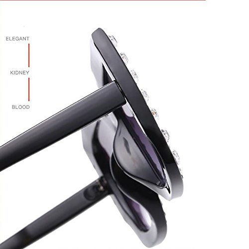 Cadre Parasols Diamant Brown Lunettes Sunglasses Lunettes Carré 67Mm Mode Main La Surdimensionné À UV400 Lady Femmes w7RqZEwz