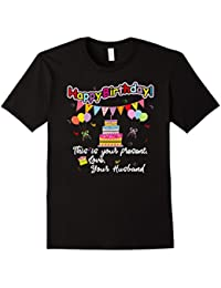 Happy Birthday From Your Husband Card+Banner+Cake+Balloons