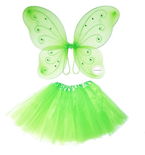 Lolasaturdays Fairy wing and dress set (green)