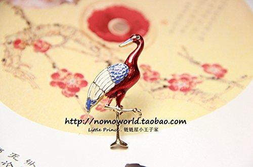 Antique brooch Xian Qi fluttering red crane dance crane ? antiquity brooch brooch brooch Guofeng Chinese from Generic