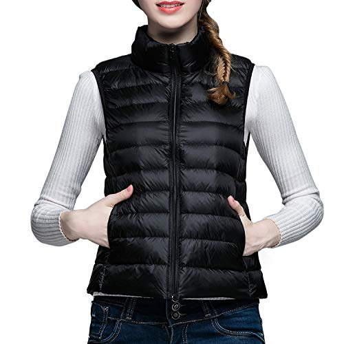Packable Outerwear Coat Women's Down Vest Lightweight Vest Jacket Jacket Black Puffer Lisli Down vIxgOqzqwn