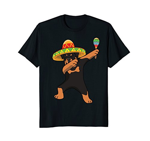 Dabbing Rottweiler Dog in Sombrero Mexico Party T Shirt for $<!--$16.95-->