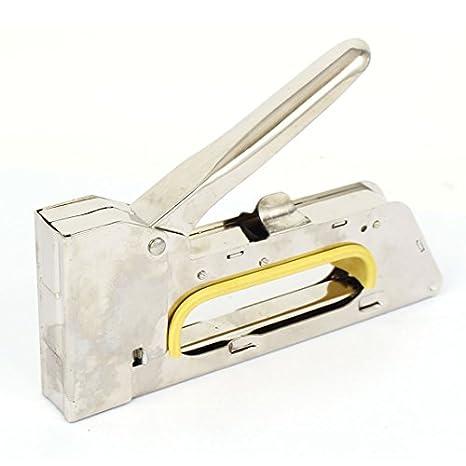 Heavy Duty Staple Gun Arrow Fastener T50 Grip Handle Resists Slipping All Steel