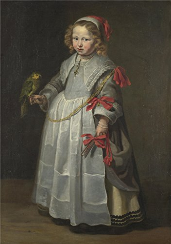 Oil Painting 'Netherlandish Portrait Of A Girl With A Parrot ' Printing On High Quality Polyster Canvas , 12 X 17 Inch / 30 X 43 Cm ,the Best Gym Gallery Art And Home Artwork And Gifts Is This High Resolution Art Decorative Prints On Canvas