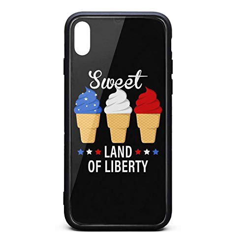 National Ice Cream Day White Phone Case for iPhone Xs MAX Printing Anti-Fingerprint/Protection/Anti-Fall/Scratch/Whole Body Protection The Protective Shell of The iPhone Xs MAX Mobile Phone from GASDQW