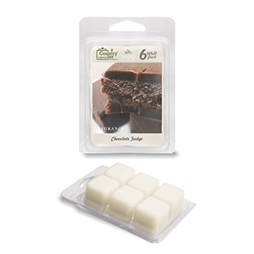 (Country Jar CHOCOLATE FUDGE Soy Wax Melts for Warmers - 6 Tart Cubes - - HOT IN JULY SALE! BUY ANY 2 GET 3RD FREE!)