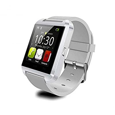 ELENKER™ 2014 New Waterproof Bluetooth Smart Wrist Watch Phone Mate Handsfree Call For Smartphone Outdoor Sports Pedometer Stopwatch White