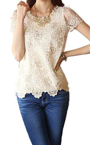 eshion chiffon beading embroidery o neck product image