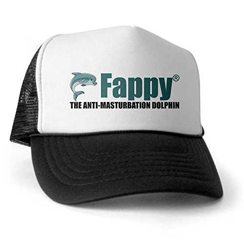 CafePress - Fappy The Anti-Masturbation Dolphin Trucker Hat - Trucker Hat, Classic Baseball Hat, Unique Trucker Cap