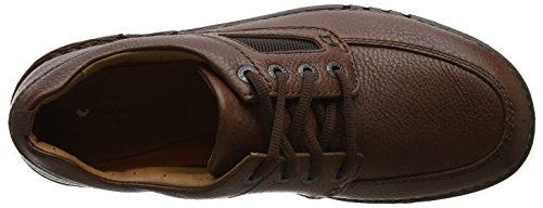 para de Hombre Time Unnature Derby Zapatos Clarks Leather Brown Marrón Cordones pSOwBnq