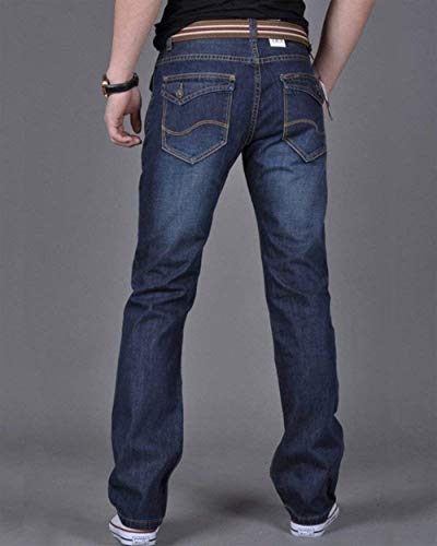 Vintage Skinny Casual Slim Denim Comodo Pants Gamba A Soft Men Dunkelblau Dritta Moderna Jeans Ssig Fit Pantaloni Rq0zARvx