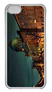 Customized iphone 5C PC Transparent Case - Street Night Personalized Cover