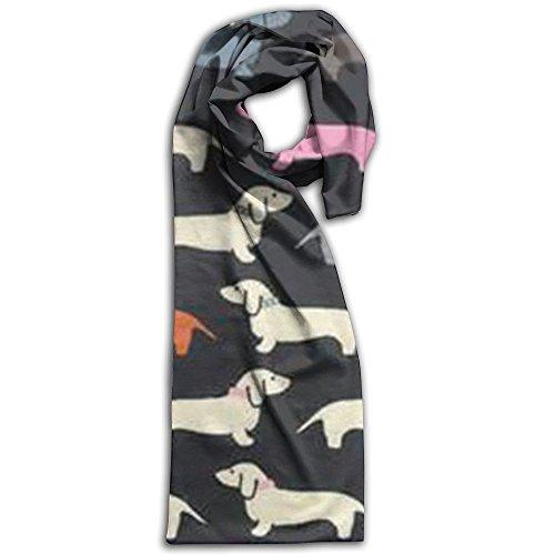 Wiener Dog Fabric Wallpaper Winter Scarves Lightweight Warm Towel Stylish Shawl Scarf - Size Burberry Guide