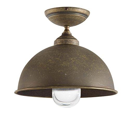 Premium lámpara de techo de latón envejecido E27 hasta 70 W ...