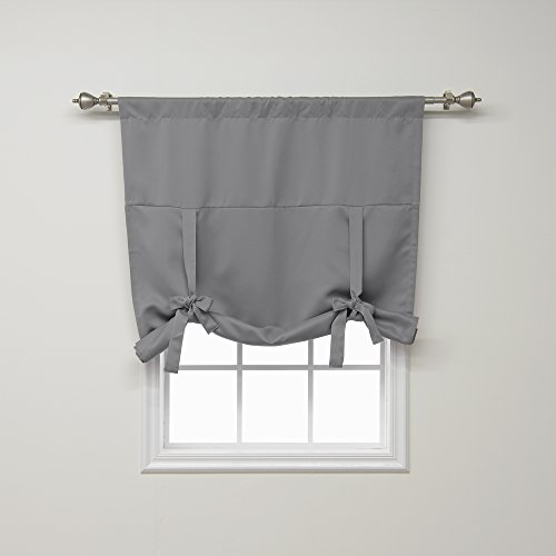 Best Home Fashion Premium Thermal Insulated Blackout Tie-Up Window Shade - Grey - 42