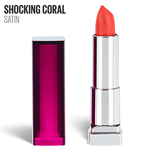 Maybelline New York Color Sensational Pink Lipstick, Satin Lipstick, Shocking Coral, 0.15 (Lipstick Pink Coral)