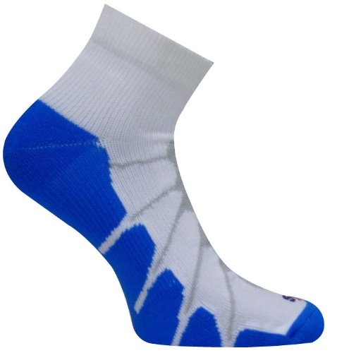 Low Cut Arch Support (Sox Sport Gentle Plantar Fasciitis Arch Support Low Cut Running, Gym Compression Socks, White/Royal, Large -)