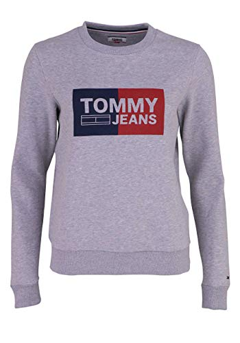 Jeans Grigio Essencial Donna Felpe Tommy Logo Fw4qaTT