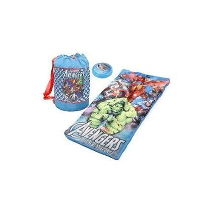 Marvel Los Vengadores niños saco de dormir 3 pc Set con luz nocturna de lectura