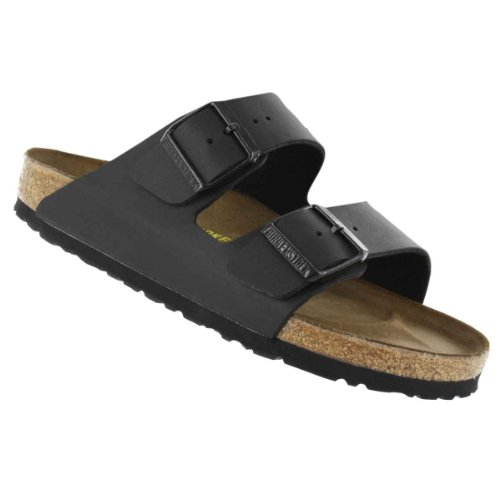Price comparison product image Birkenstock Women's Arizona 2-Strap Cork Footbed Sandal Black 39 M EU