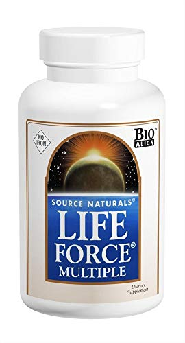 Source Naturals Life Force Multiple Iron Free Daily Multivitamin High Potency Essential Vitamins, Minerals, Antioxidants & Nutrients - Energy & Immune Boost - 120 (Best Source Naturals Multivitamin)