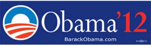 OBAMA 2012 PRESIDENT BUMPER STICKER