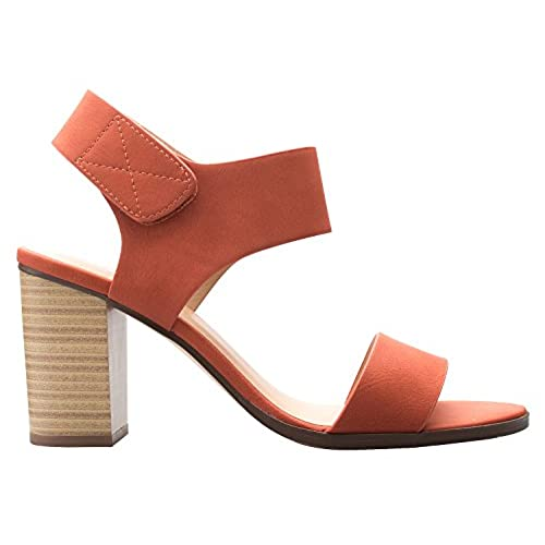 d5c98bad5 new OLIVIA K Women's Peep Toe Sandal - Low Stacked Heel - Open Toe Ankle  Heel