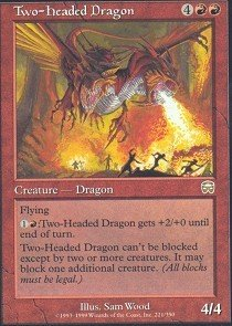 Red Three Headed Dragon (Magic: the Gathering - Two-Headed Dragon - Mercadian Masques)