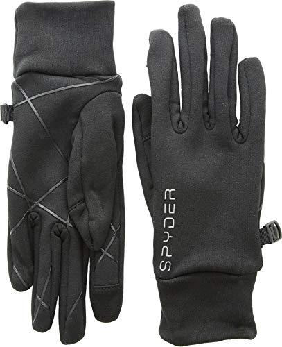 Spyder Women's Serenity Stretch Fleece Glove, Black/Black, Medium